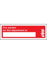 Fire Warden for this Department Is