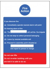 Fire Action Standard (Dialled Manually)