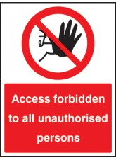 Access Forbidden to All Unauthorised Persons