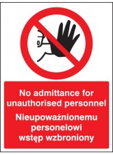 No Admittance to Unauthorised Personnel (English / Polish)