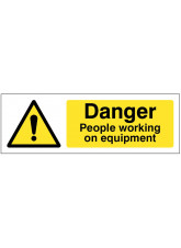 Caution People Working On Equipment