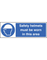 Safety Helmets Must be Worn in this Area