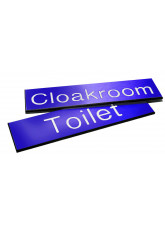Engraved Sign with Adhesive Back - Blue