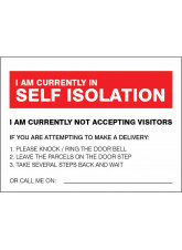 I am currently in self-isolation - deliveries advice
