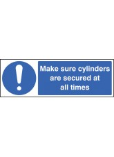 Make Sure Cylinders Are Secure At All Times