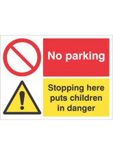 No Parking - Stopping Here Puts Children in Danger
