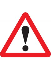 Warning ! With Text Variant Options - 600mm Triangle Sign