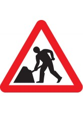 Fold Up Sign - Men At Work Symbol - 600mm Triangle Sign