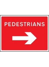Pedestrians Arrow Right - Class RA1 - 1050 x 750mm
