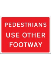 Pedestrians Use Other Footway - Class RA1 - 1050 x 750mm