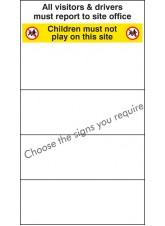 Site Safety Board - 600 x 1000mm - with Select Signs