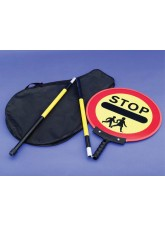 Stop Children Lollipop Sign 450mm Dia - 1500mm Pole