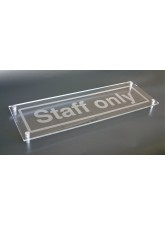 Design Your Own Visual Impact Sign with Stand Off Locators - 450 x 150mm