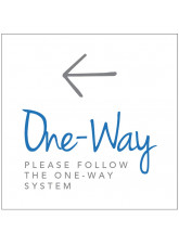One Way - Arrow Left - Floor Graphic