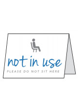 Not in Use - Please do not sit here - Double Sided Table Cards
